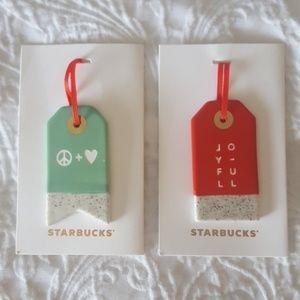 Starbucks Ceramic Ornaments (9)